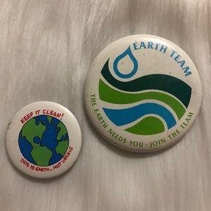 Vintage Environmentalist Pins